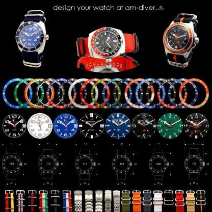 design your watch at am-diver.com